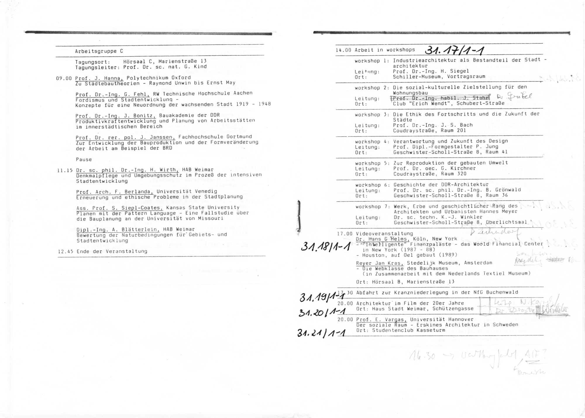 Das Internationale Bauhaus-Kolloquium in Weimar 1976–2019