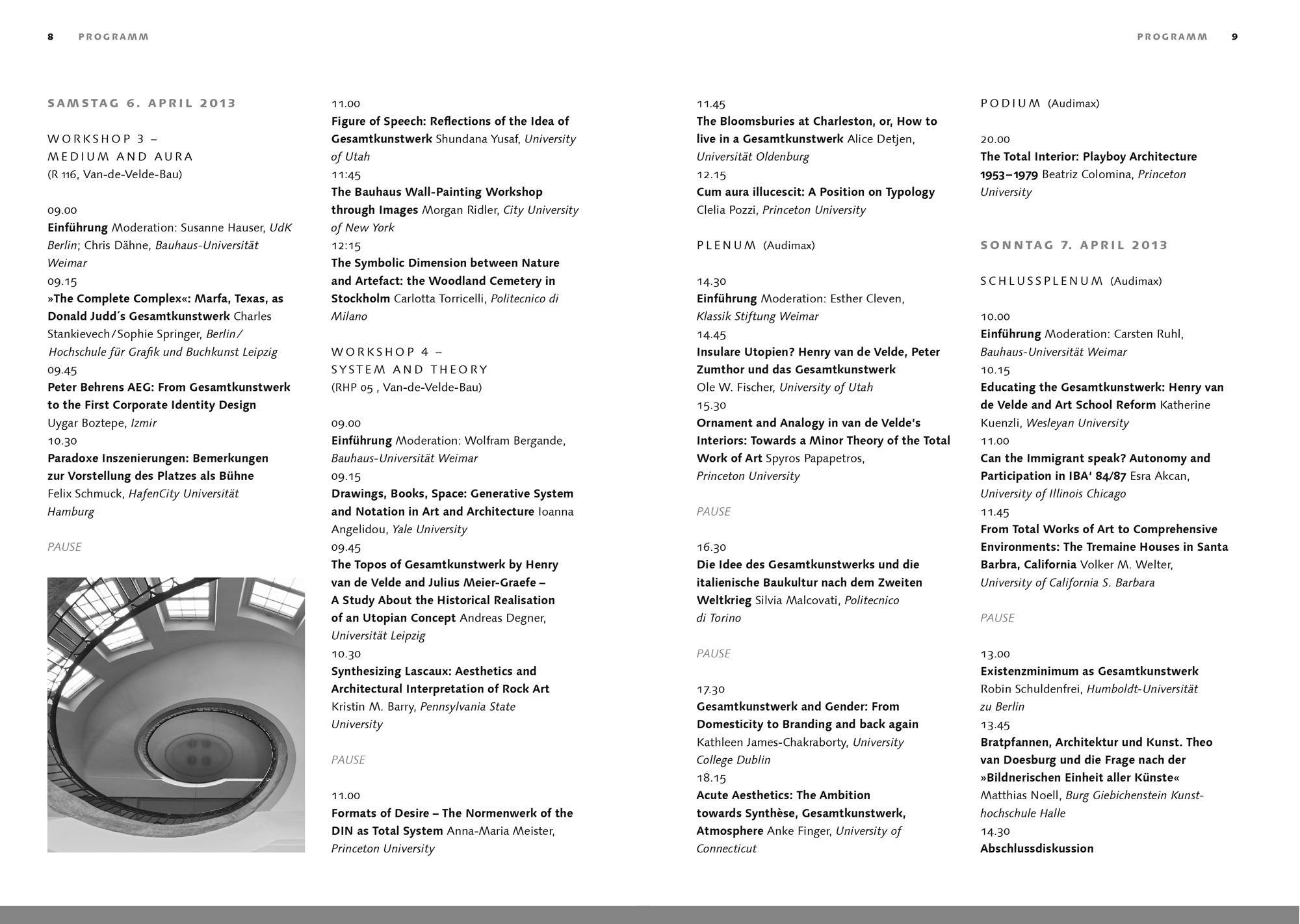 Programm des XII. Bauhaus-Kolloquiums