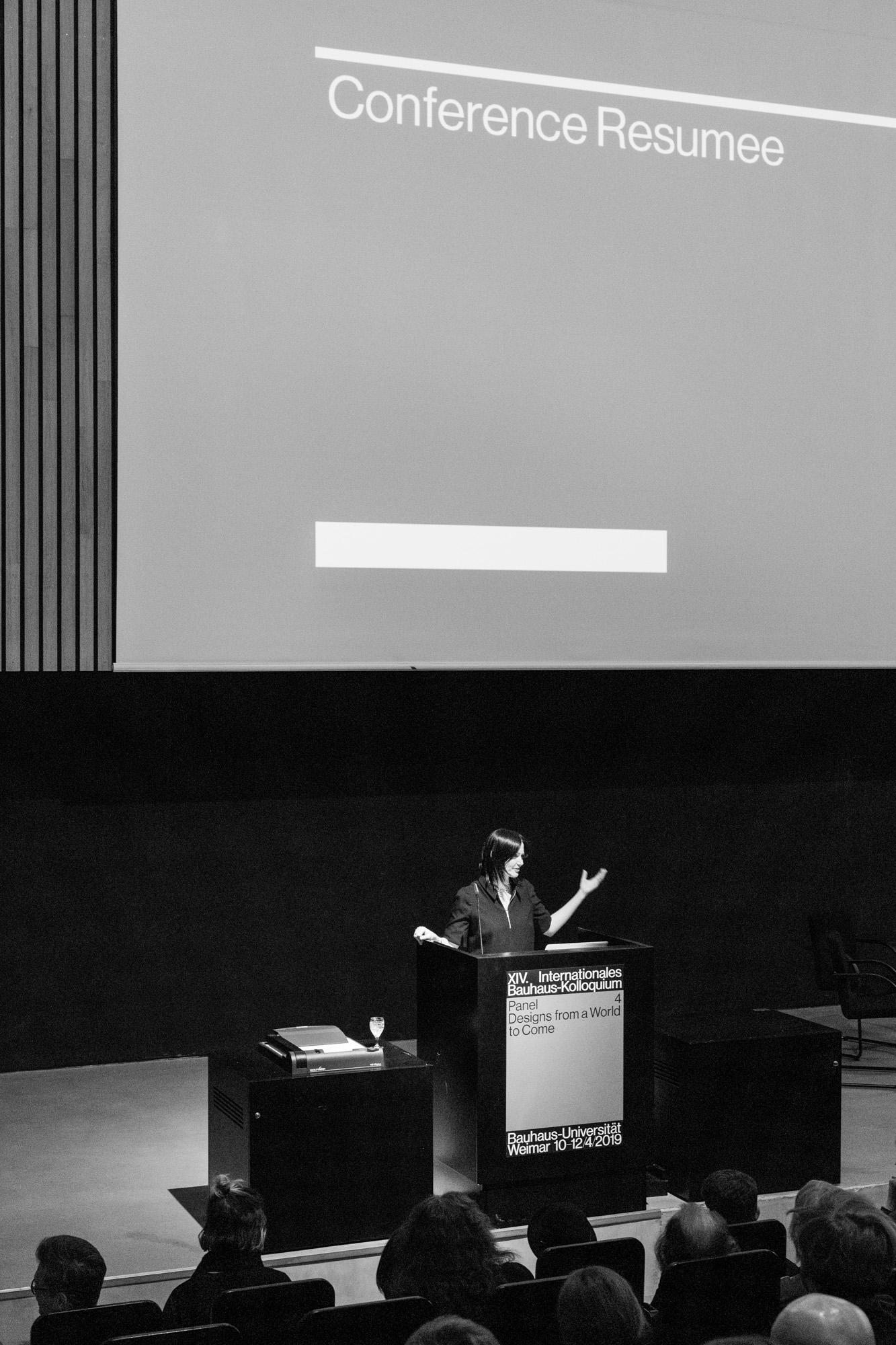 Konferenzdirektorin Ines Weizman. Fotografen: Samuel Solazzo, Jannis Uffrecht, Philipp Niemeyer